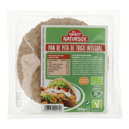 Pane di pita integrale Natursoy, 250g