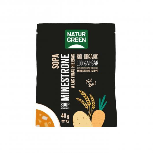 Sopa de Minestrones Finas Hierbas Naturgreen, 40g