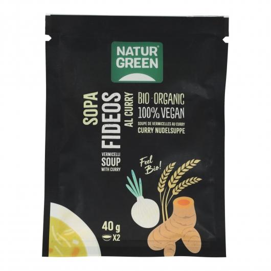 Sopa Fideos al curry Naturgreen, 40g