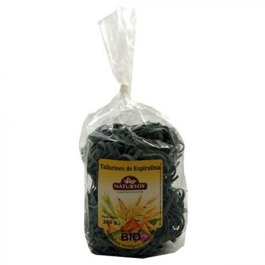 Tallarines de Espirulina ecológicos Natursoy, 250 g