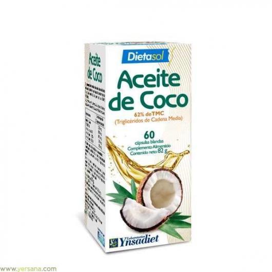 Aceite de coco Ynsadiet, 60 cápsulas