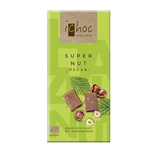Tableta de chocolate bio con bebida de Arroz y Avellanas iChoc 80 g