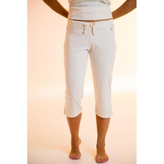 Pantalone pirata cotone organico donna, bianco