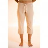 Pantalón pirata de algodón orgánico femenino, marrón