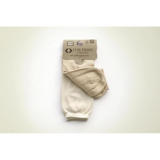 Pacco doppio paio di calzini fini cotone organico, bianco e marrone