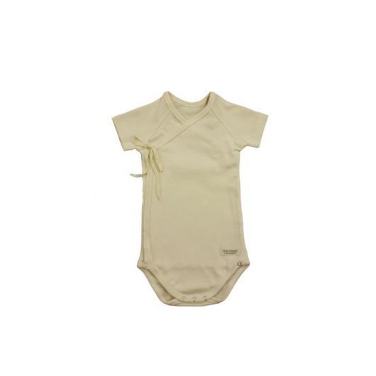 Body cruzado manga corta de algodón orgánico, talla (meses) 1