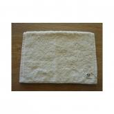 Toalla tocador de algodón orgánico 30 x 50 cm, blanco