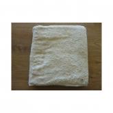 Asciugamano per lavandino di cotone organico 50 x 100 cm, bianco