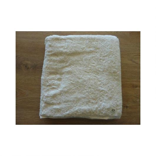 Asciugamano doccia cotone organico 100 x 160 cm, bianco