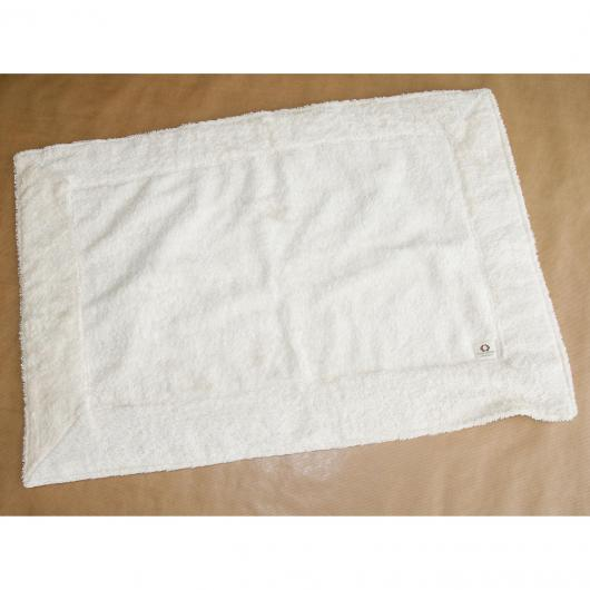Tappeto cotone organico 40 x 60 cm, bianco