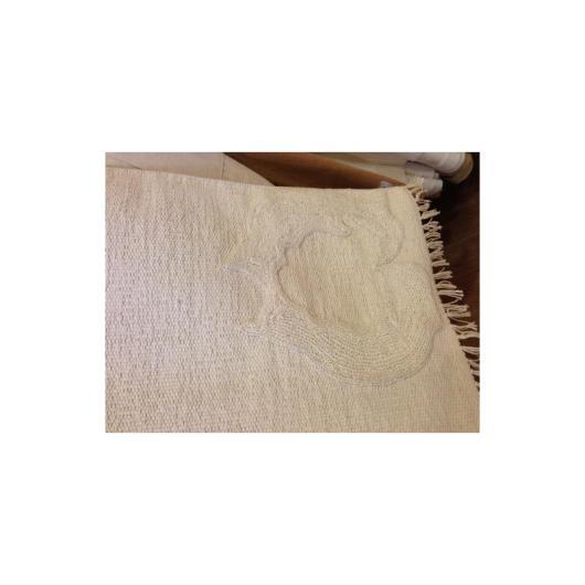 Tappetino cotone organico 80 x 55 cm, bianco