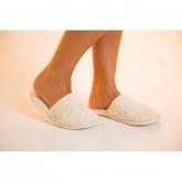Zapatilla de algodón orgánico baño, blanco