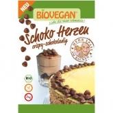 Cuori di cioccolato vegano bio per decorazioni BIOVEGAN 35 g