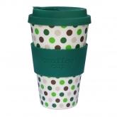 Tazza di Bambú Green Polka Ecoffee Alternativa 3, 400 ml