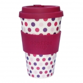 Tazza di Bambú Pink Polka ecoffee Alternativa3, 400 ml
