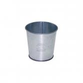 Tazza di metallo zincato, espositrice di spazzolini Redecker, diametro 9,5 cm x 10 cm