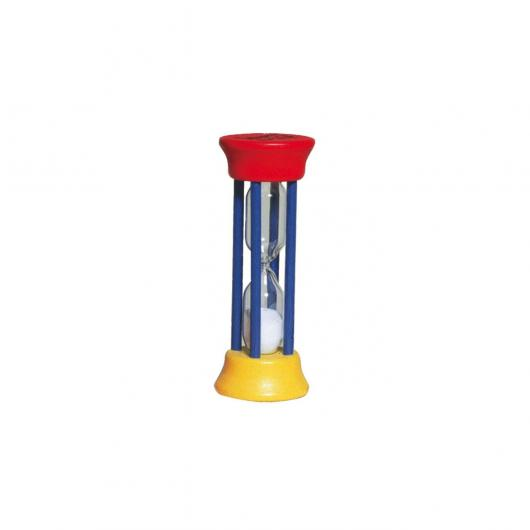 Reloj arena, azul/amarillo/rojo Redecker, 10cm