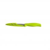 Cuchillo inox/bioplástico verde Biodora, 23,5cm