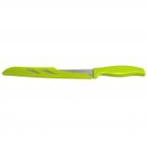 Cuchillo de pan inox/bioplástico verde Biodora, 32cm