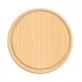 Tabla para cortar de madera de haya certificada Biodora, 24cm diámetro