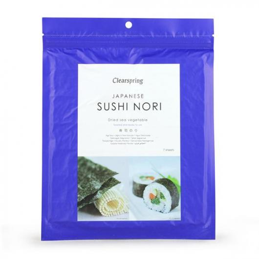 Algue Nori spécial sushis Clearspring, 17 g