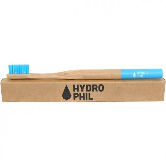 Cepillo de dientes bambú/nylon azul Hydrophil