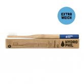 Spazzolino denti in bambú e nylon Blu, extra delicato Hydrophil