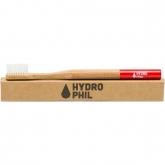 Cepillo de dientes bambú/nylon Rojo Hydrophil