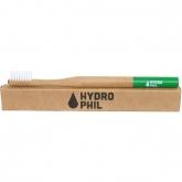 Spazzolino denti in bambú e nylon Verde Hydrophil