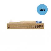 Spazzolino denti bambini in bambú e nylon, Blu, delicato Hydrophil