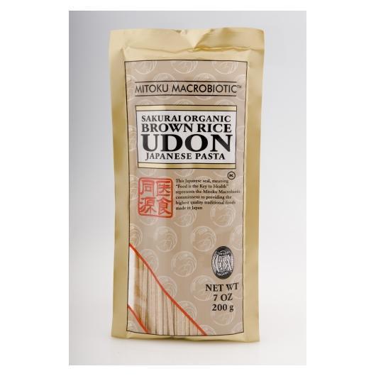 Nouilles Udon au riz complet Mitoku, 200 g