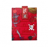 Porta bocadillos Boc'n'Roll Kids, piratas rojo