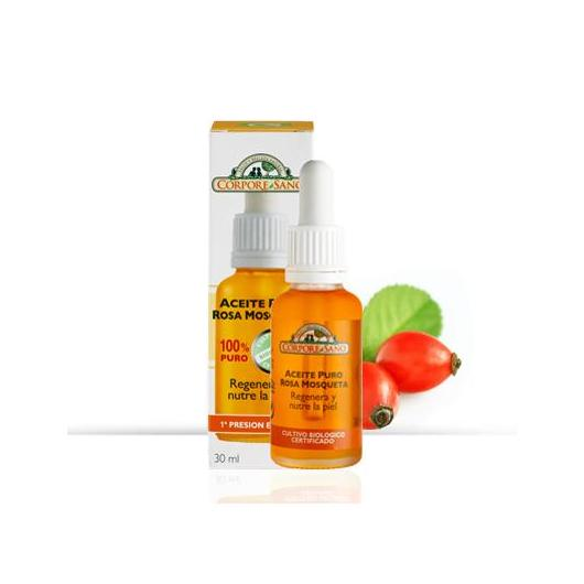 Olio di Rosa Mosqueta 100% PURO antirughe e rigenerante, Corpore Sano, 30 ml