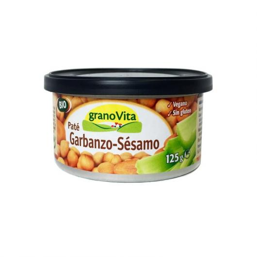 Paté Garbanzo Sésamo Bio granoVita, 125 gr
