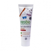 Gel Dentrificio per bambini senza fluoro Neobio, 50 ml