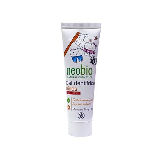 Gel Dentífrico para niños sin flúor Neobio, 50 ml