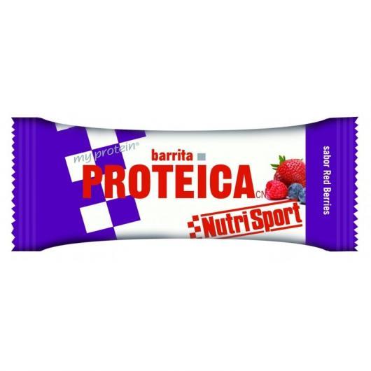 Barrita Protéica de Frutos Rojos Nutrisport, 24 Unidades