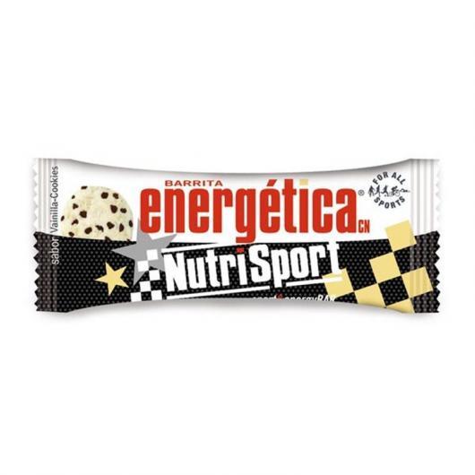 Barrita Energética de Vainilla y Cookies Nutrisport, 24 Unidades
