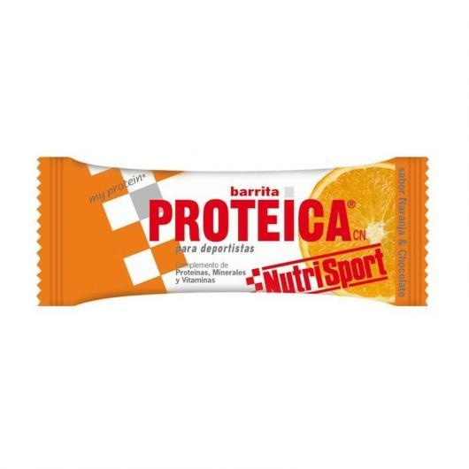 Barritas Protéicas Naranja Nutrisport, 24 Unidades