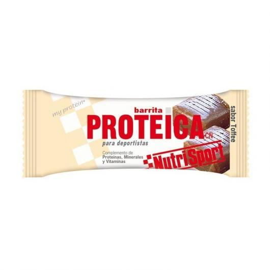Barrette Proteiche Toffee Nutrisport, 24 unitá