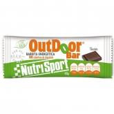 Outdoor Barretta Energetica al Cioccolato senza copertura Nutrisport, 20 Unitá