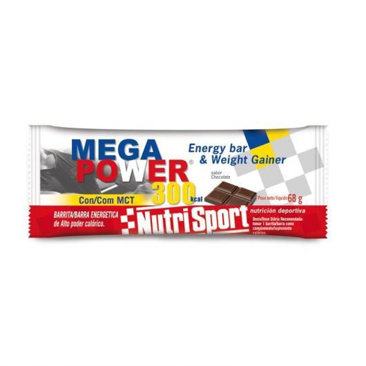 Megapower Barritas Chocolate Nutrisport, 12 Unidades