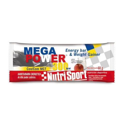 Megapower Barritas Yogurt y Melocotón Nutrisport, 12 Unidades