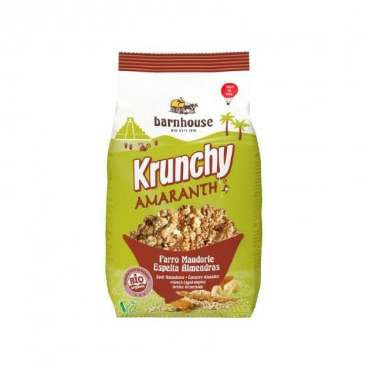 Muesli Krunchy Amaranto, Farro e Mandorle Barnhouse, 375 gr