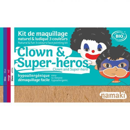 Kit trucco pagliaccio e super eroe Namaki