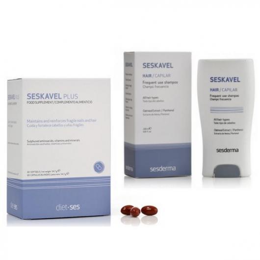 Tratamiento anticaída Kavel M Seskavel Sesderma, 60 cápsulas + champú regalo