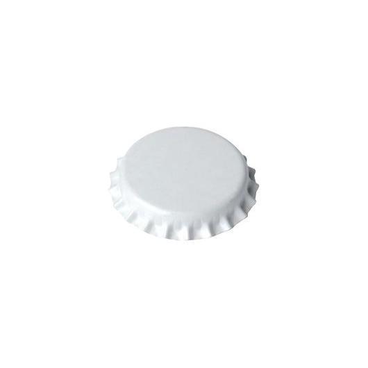 Chapas de 29mm para botellas normales, Blancas - 1.000 unid