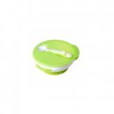 Set Bol de Succión con Cuchara Temperatura Kidsme 9 m+, libre de BPA