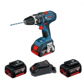 Taladro GSB 18 V-EC Bosch + Cargador AL 1860 CV + 2 baterías