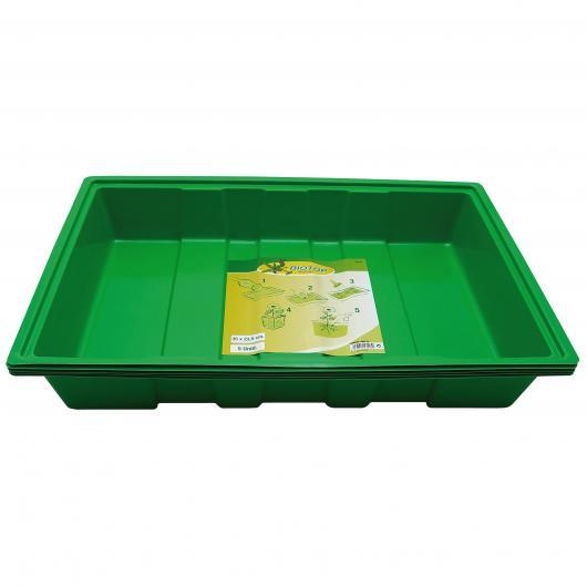 Confezione 5 vassoi da coltivazione di SEmi, 35x23.5 cm